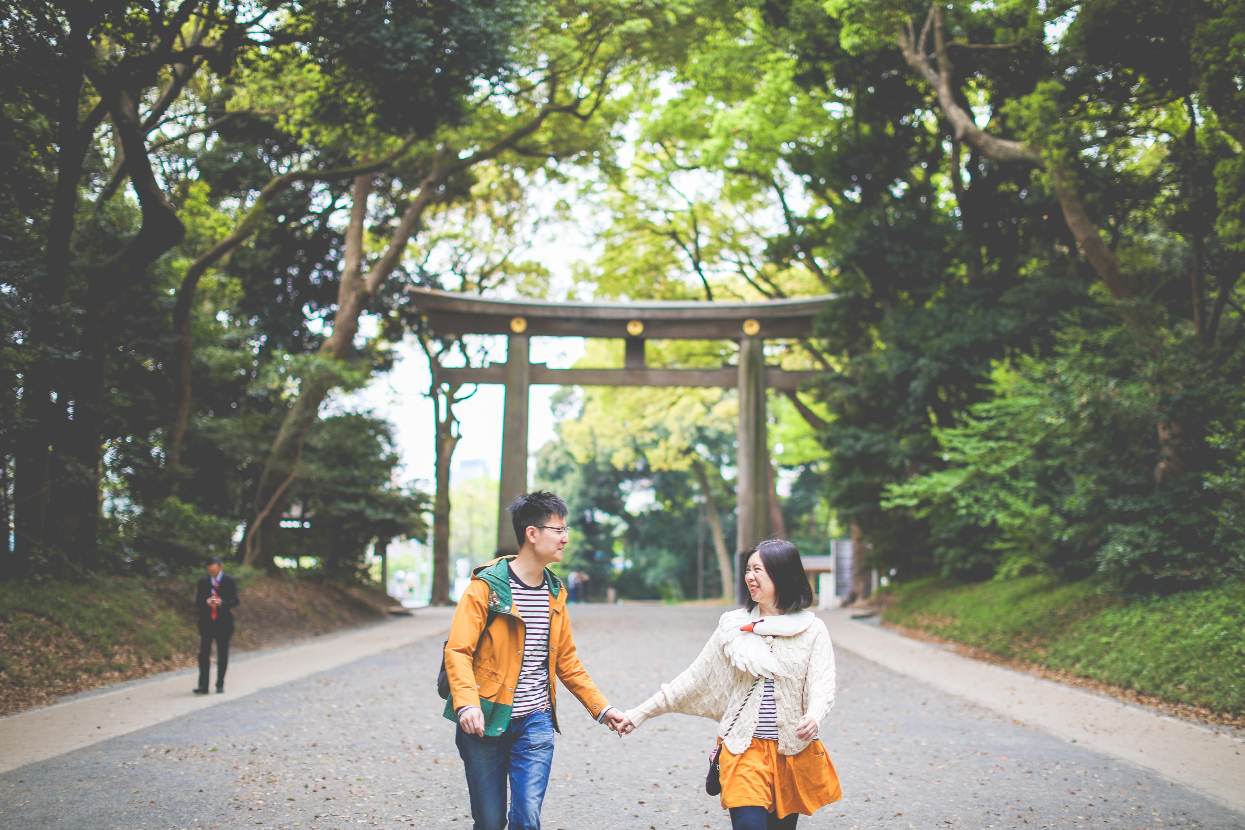 Yoyogi park, Meiji shrine, Shibuya, Japanese, Photographer, Wedding, Couple photo