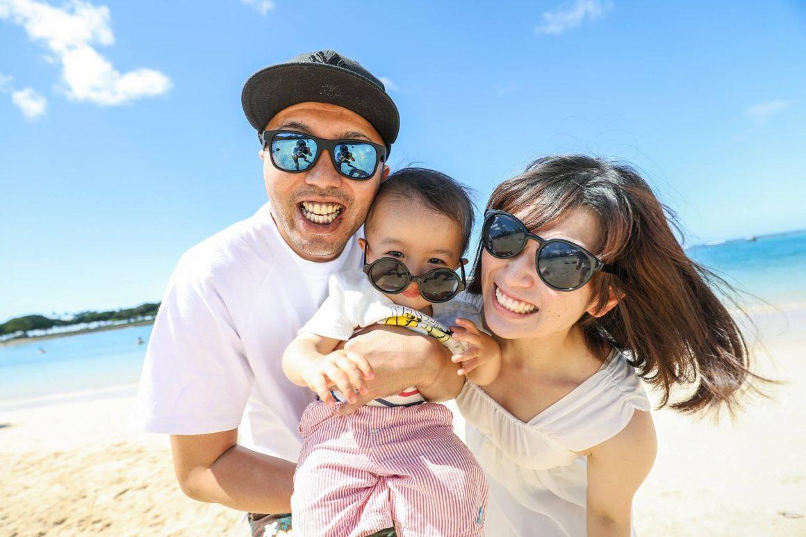 ハワイで家族ファミリーフォト記念撮影